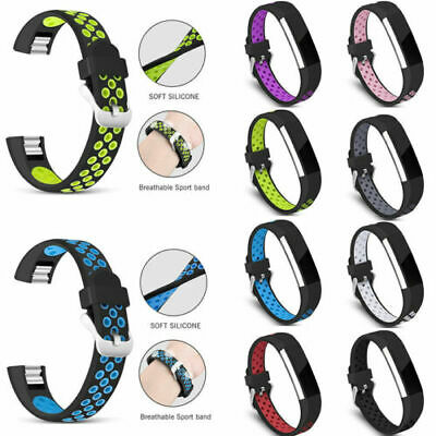 AU6.23 • Buy For FitBit Alta/Alta HR Silicone Loop Strap Watch Band Elastic Bands Solid Color