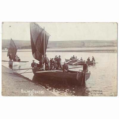 £14.95 • Buy ST DOGMAELS Pembrokeshire Salmon Fishers RP Postcard, Postmarked Cardigan 1905