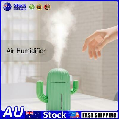 AU23.58 • Buy AU 340ml Cactus USB Charge Air Humidifier Aroma Essential Oil Diffuser (Green)