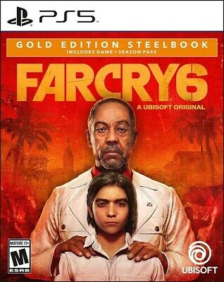AU189.15 • Buy Far Cry 6 SteelBook Gold Edition For PlayStation 5 [New Video Game] Playstatio