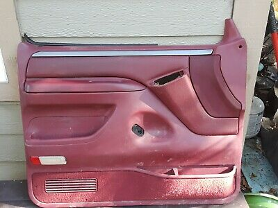 AU264.96 • Buy 1992 - 1996  Ford F-150 F-250 F-350 Bronco Driver Door Panel RED