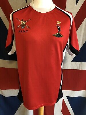£19.99 • Buy ROYAL SIGNALS ARMY V NAVY 100th MATCH TWICKENHAM 2017 RED RUGBY SHIRT SIZE LARGE