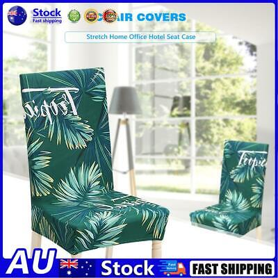 AU12.54 • Buy AU Green Leaves Spandex Chair Cover Stretch Home Office Hotel Seat Case (1pc)