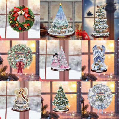 £5.99 • Buy Merry Christmas Gift Wreath Wall Window Stickers Decals Art Xmas Home Shop Decor