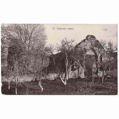 £4.95 • Buy ST DOGMAELS ABBEY Pembrokeshire RP Postcard By Clougher, Postmark Cardigan 1915