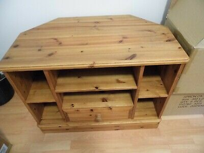 £50 • Buy Solid Pine TV Corner Unit With Draw & Shelves