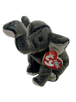 £3.95 • Buy Trumpet The Elephant Ty Beanie Babies With Tags 2000 Grey Soft Toy