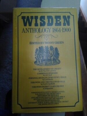 £7.88 • Buy Wisden Anthology 1864-1900 Edited By Benny Green DJ With Worn Plastic Cover