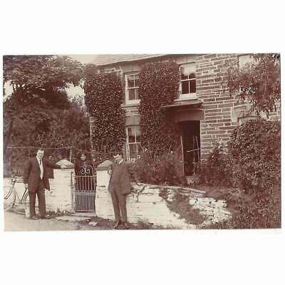 £12.95 • Buy CILGERRAN Pembrokeshire People Outside A House RP Postcard By Squibbs, Unposted