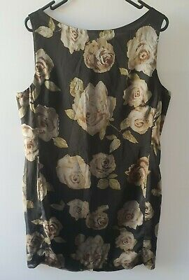 AU4.95 • Buy Vintage Ladies Inter Clothing Size 16 Dress Made In Aus Flower Design  CLEARANCE