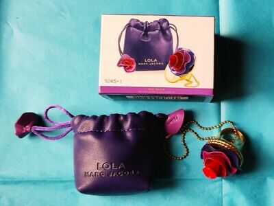 £10.50 • Buy Marc Jacobs - Lola Flower Perfume Ring With Pouch And Box