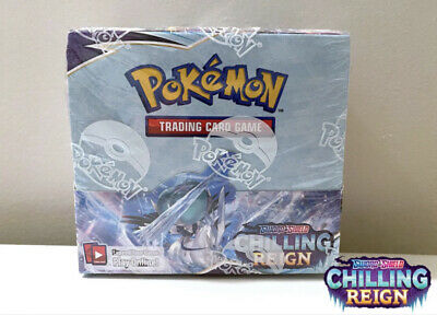 AU190 • Buy **IN STOCK**POKEMON TCG Sword And Shield 🌧Chilling Reign Booster Box🌧