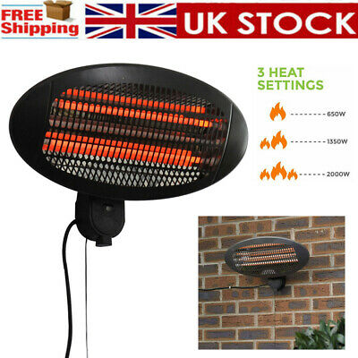 £40.10 • Buy Wall Mounted Patio Heater Outdoor Garden Party Electric Infrared Warmer Heating