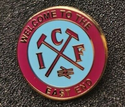 £3.99 • Buy West Ham United Pin Badge Welcome To The East End