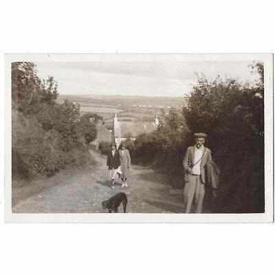 £7.95 • Buy ST DOGMAELS Walking Dog At Local Path, Pembrokeshire RP Postcard Unused