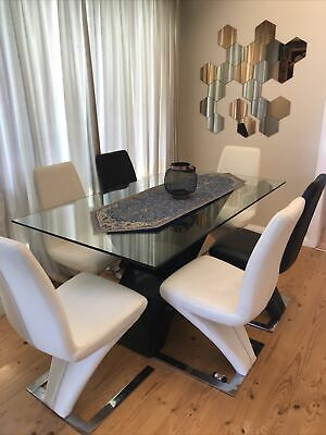AU450 • Buy Glass Dining Table And Chairs