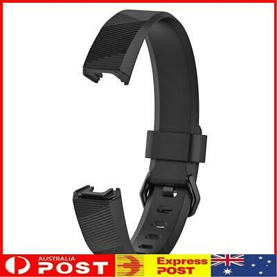 AU8.99 • Buy Silicone Adjustable Watch Band Wrist Strap For Fitbit Alta HR S (Black)