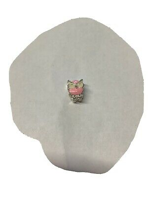 £3.99 • Buy Pink/white Owl Charm.new Fits All 925 Silver Bracelets.