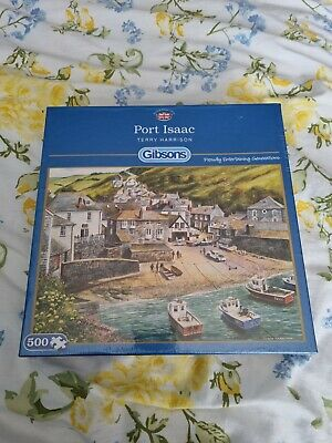£5.99 • Buy Port Isaac 500 Piece Gibsons Jigsaw, Terry Harrison, Fishing Villages G892 NEW