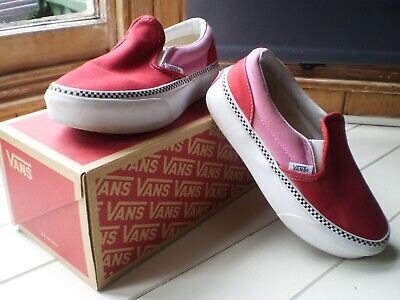 £4.99 • Buy Vans Classic Slip On Red/Pink Size UK Kids 2.5 721454 Sneakers Trainers