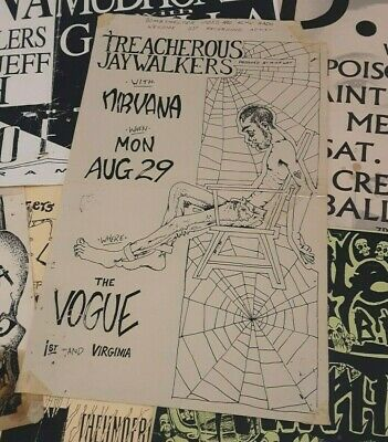 $127.50 • Buy Nirvana Rare Orig. Early Concert Gig Poster Punk Flyer Vogue Seattle  Aug. 1988
