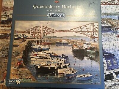 £3 • Buy Gibsons 1000 Piece Jigsaw Puzzle Queensferry Harbour By Terry Harrison Complete