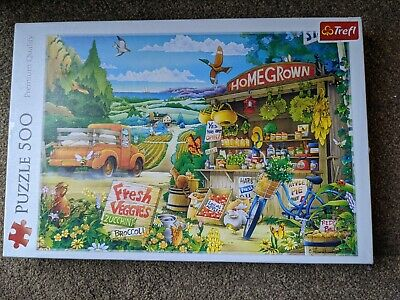 £2 • Buy Trefl 500 Piece Large Morning In The Countryside Scene Jigsaw Puzzle