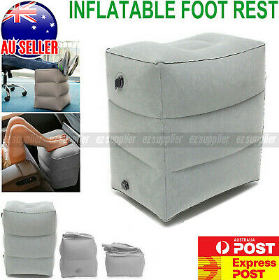 AU16.95 • Buy Travel Air Pillow Foot Rest Inflatable Cushion Office Home Car Leg Footrest HOT