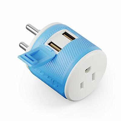 AU29.95 • Buy Thailand Travel Plug Adapter By Orei With Dual USB - USA Input + Surge Protec...