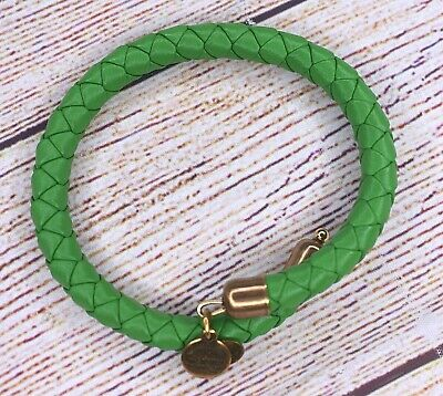 AU1.32 • Buy Alex And Ani Braided Leather Lime Green Wrap Gold Bracelet