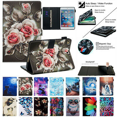 AU12.99 • Buy For IPad 5 6 Pro 10.5 9.7 10.2 Air 2 3 Mini 5 Pattern Case Leather Wallet Cover