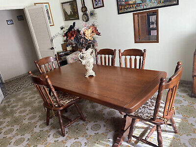 AU110 • Buy Vintage Dining Table And 6 Chairs