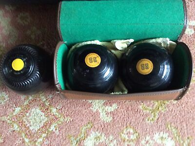 £9.99 • Buy Lawn Bowls Set, 2 Part Of A Set & One Extra. Decent Condition