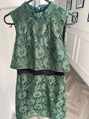 £6 • Buy Topshop Green Lace Dress Size 8
