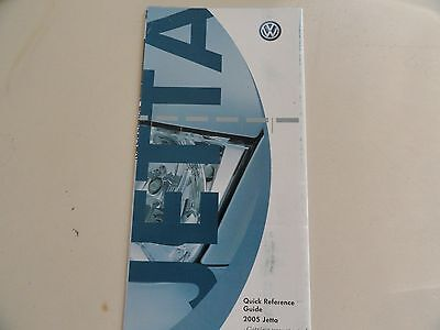 $10.75 • Buy 2005 VW Volkswagen  Jetta  Quick Reference Guide Owners Manual Supplement