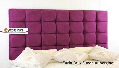 £65 • Buy Turin Faux Suede Headboard All Sizes Available **SALE**