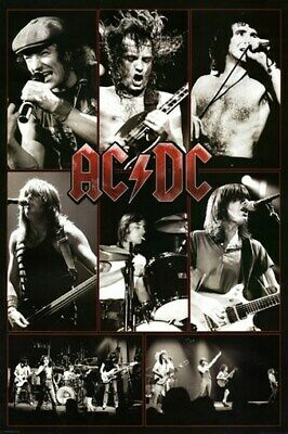 $7.48 • Buy ACDC POSTER Live AC/DC In Concert Collage HOT NEW 24x36