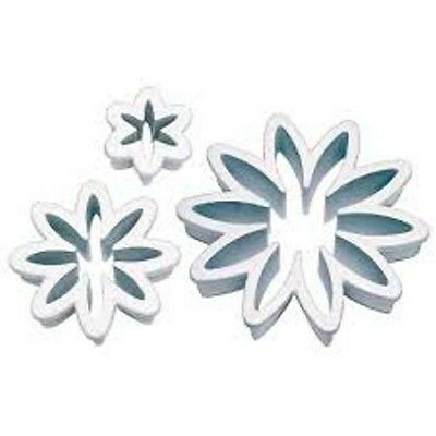 Daisy Flower Cutters X 3 Cake Decorating Icing Sugar Craft Cupcake Party • 3.45£
