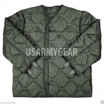 AU38.64 • Buy US Army Military M65 Field Jacket Quilted OD Green Coat Liner M-65  S M L XL XXL