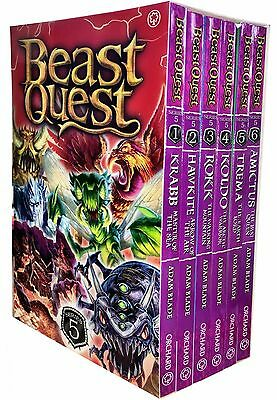 Beast Quest Series 5 - 6 Books Young Adult Collection Paperback By Adam Blade • 11.68£
