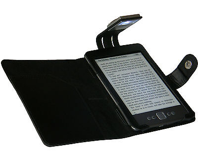 Black Case Cover And Light For New Amazon Kindle 4 - With Led Night Reading Lamp • 10.95£