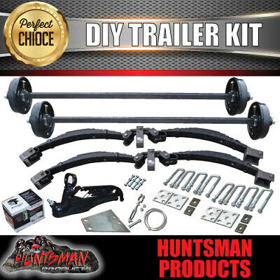 AU2290 • Buy DIY 3500Kg Tandem Trailer Caravan Kit. 12  Electric Brakes. Engineered Axles