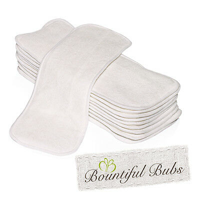 AU32.97 • Buy Bamboo Nappy Inserts, Newborn Boosters, 4 Layers X 10