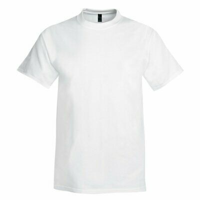 Hanes USA Beefy Plain WHITE Cotton Heavyweight Tee T-Shirt Tshirt S-6XL • 10.99£