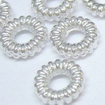 £1.99 • Buy BUY 3 GET 3 FREE 200 Pcs 4mm Silver Twist Alloy Spacer Beads - A0457