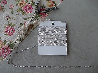 3 Metre Length Fine Cross Chain,silver Colour ,jewellery Making,2 X 1.5mm • 2.99£