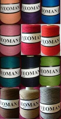 Yeoman Fifty Fifty 50/50 Yarn Wool Acrylic Mix 3ply 350g Cones Machine Knitting • 12.95£