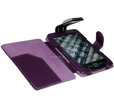 Purple Case Cover And Light For New Amazon Kindle 4- With Led Night Reading Lamp • 10.95£