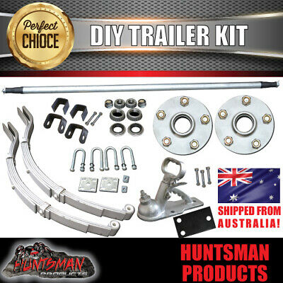 AU256 • Buy DIY 750KG Boat Jetski Trailer Kit Galvanised Axle Dacromet Eye Slipper Springs