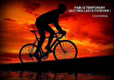 Lance Armstrong / Cycling  Inspirational / Motivational  Poster • 7.99£